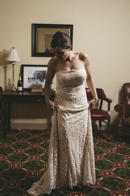 Please show me pictures of your a-line/off-shoulder wedding dresses. I'm a pear shape and struggling