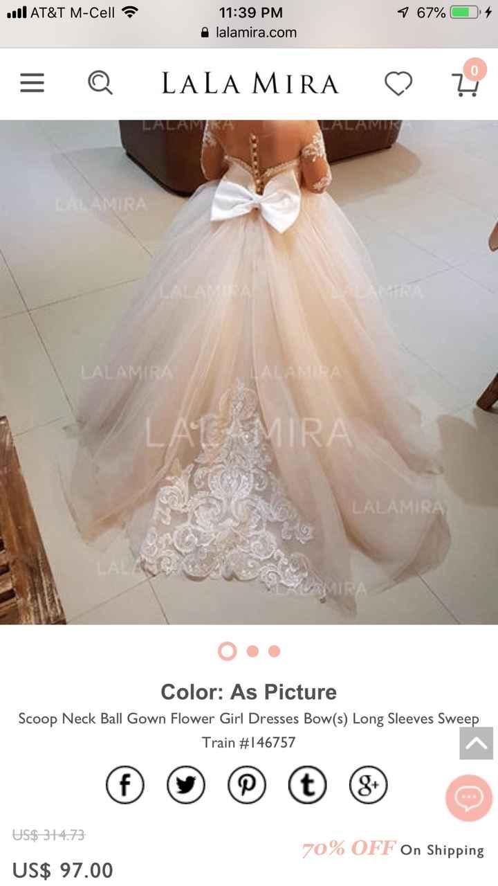 Dresses for older flower girl? - 1