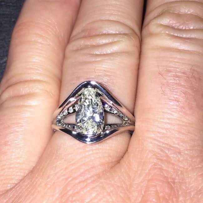 Pear/tear drop shaped rings 8