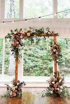 Floral Wood Arch