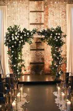 Greenery and Roses Arch