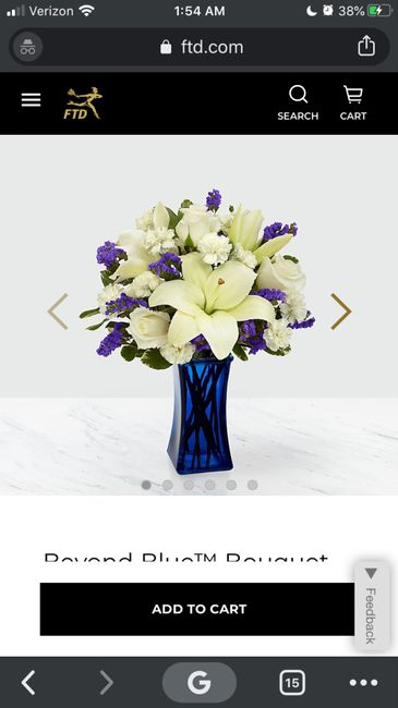 All White Flowers or Pop of Color?? 1