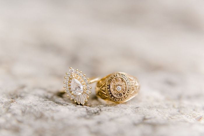 Are we supposed to match the color of the metal of our e-ring to our bridal jewelry? 4
