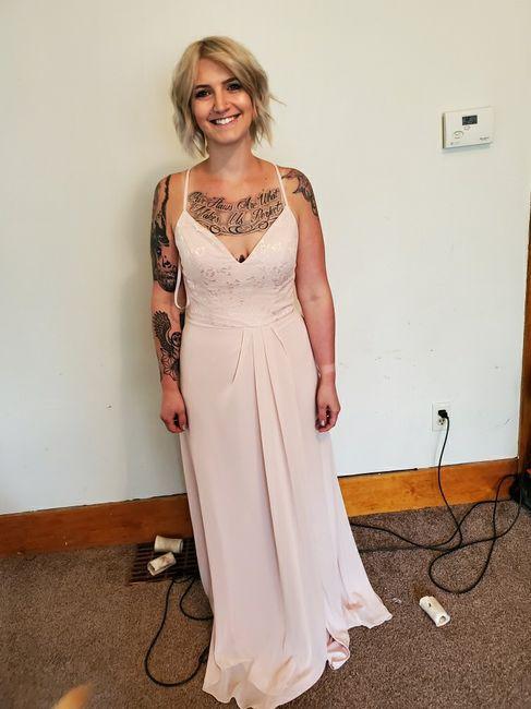 Bridesmaids in different dresses 2