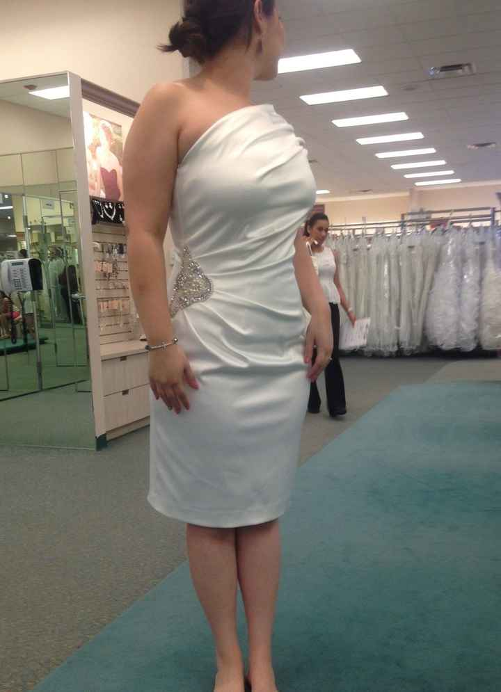 Tried on dresses for the first time! Pics!