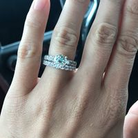 Show me your engagement rings and bands - 1