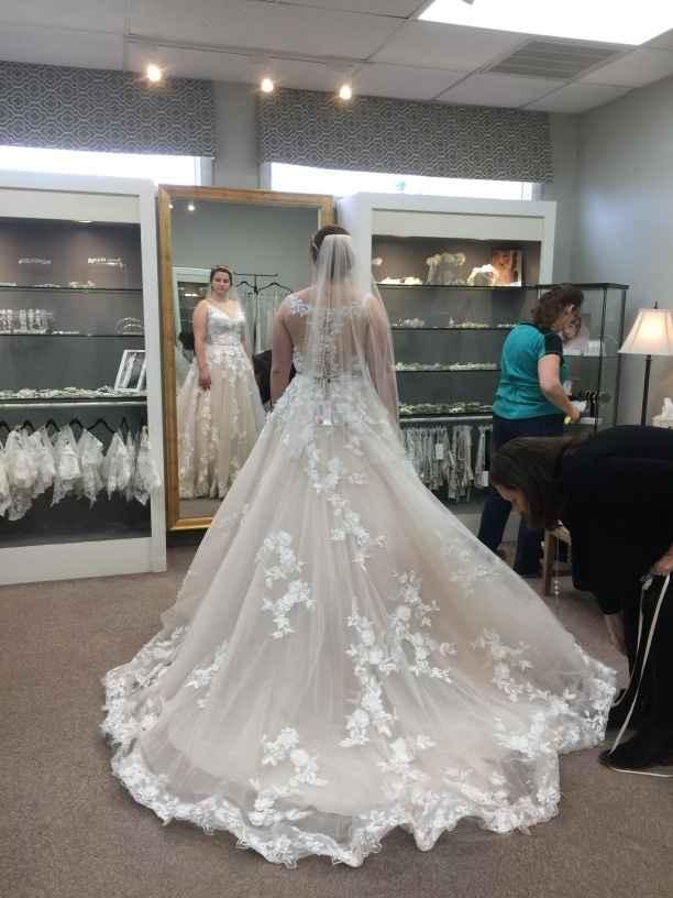 Who designed your wedding dress? - 1