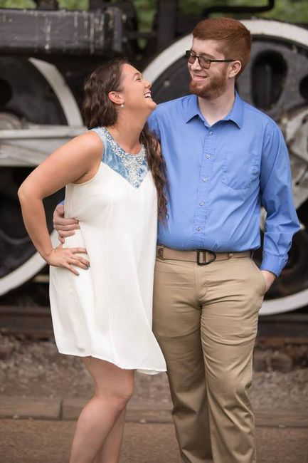 White dress for engagement pics? 1