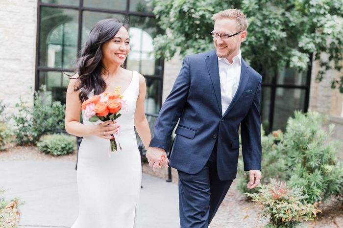 Our simple church wedding blessing 2
