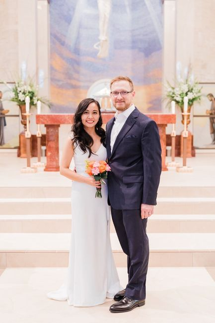 Our simple church wedding blessing 8