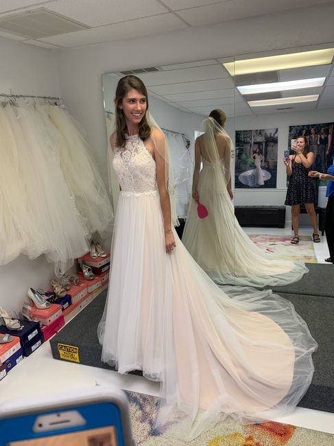 """Blush""ing brides! Let's see those blush colour wedding dresses! - 1"