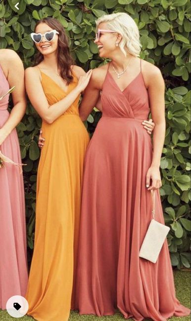 How much are your bridesmaids going to match? 1