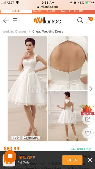 Second thoughts on non traditional wedding dress 4