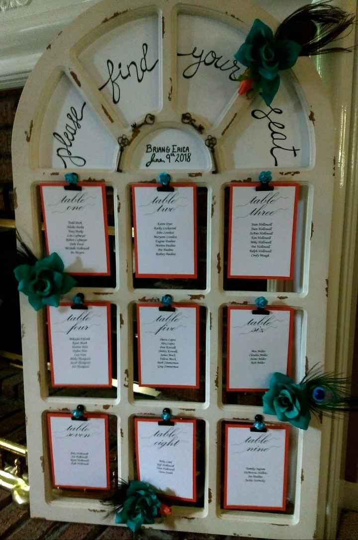 Seating Chart & Card Table - 1