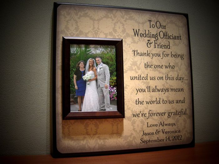 Suggested Gift For Wedding: Officiant Gifts........any Suggestions?