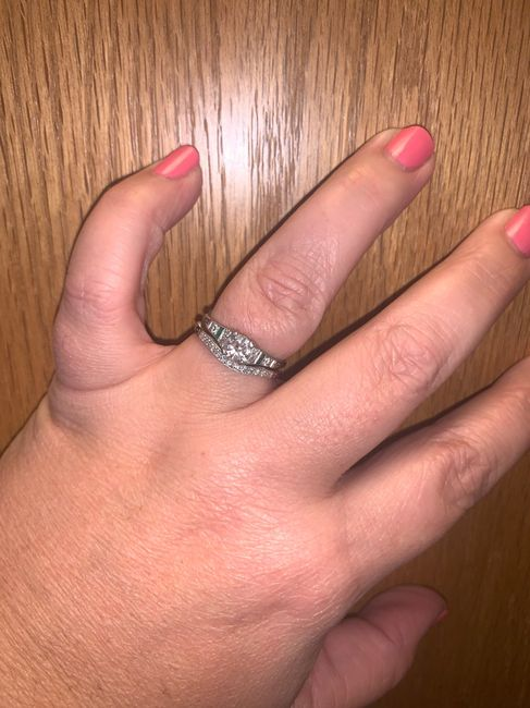 Just got my wedding band! Show yours off ladies! 9