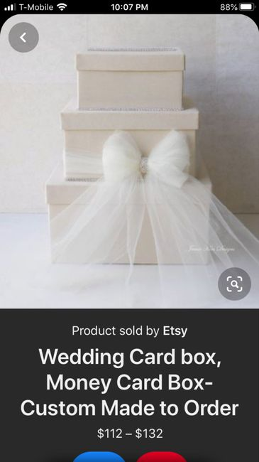 i made my own card box! 3