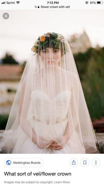 Attaching Veil to Flower Crown 1
