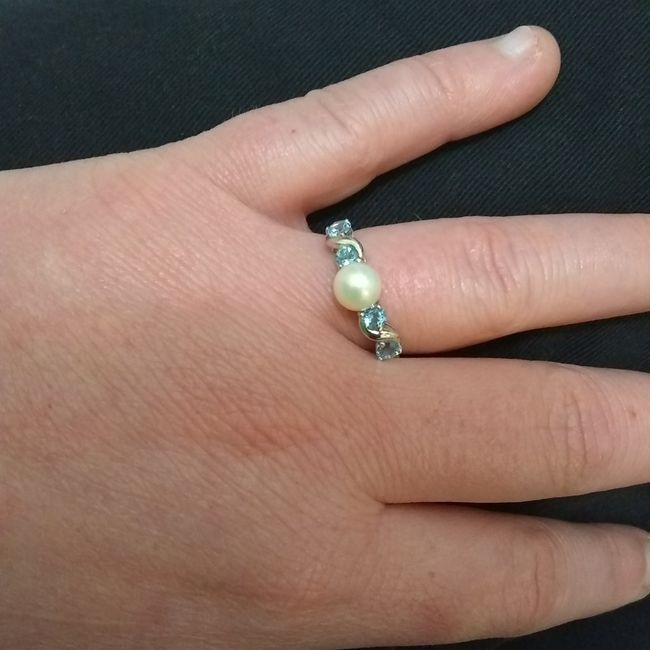Engagement Rings with colored gemstones - 1