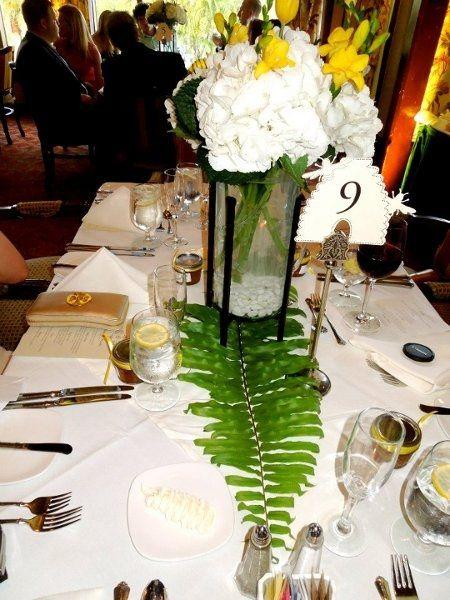 Center piece one stem hydrangea weddings do it