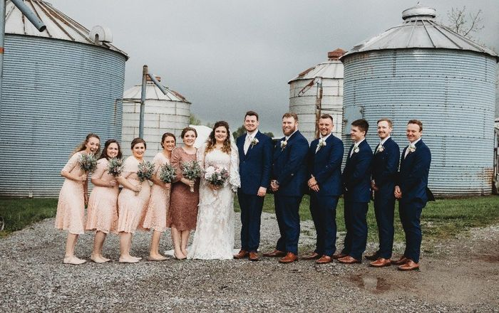 The only full bridal party picture we got before.......