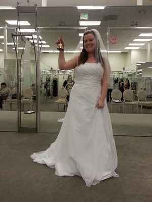 I rang the Bell and Said yes to the dress!! Lets see some of your dresses!!