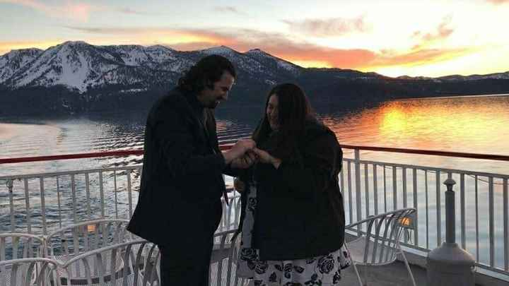 Post a photo of your fiance proposing!