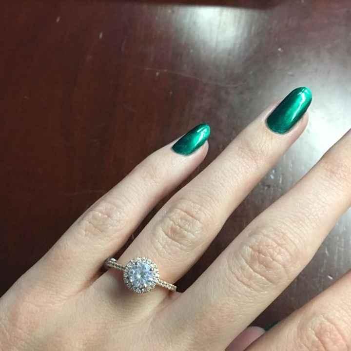 A new bridal ring set