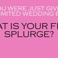 If you had an unlimited wedding budget...