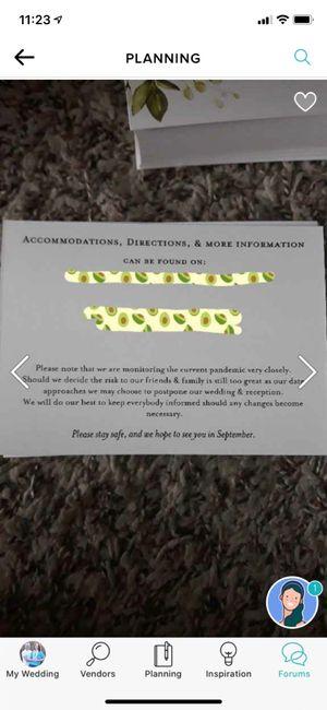 Wedding Invite Covid-19 Card Message 1