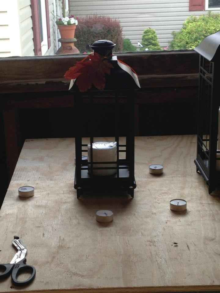Lantern centerpiece ideas needed!