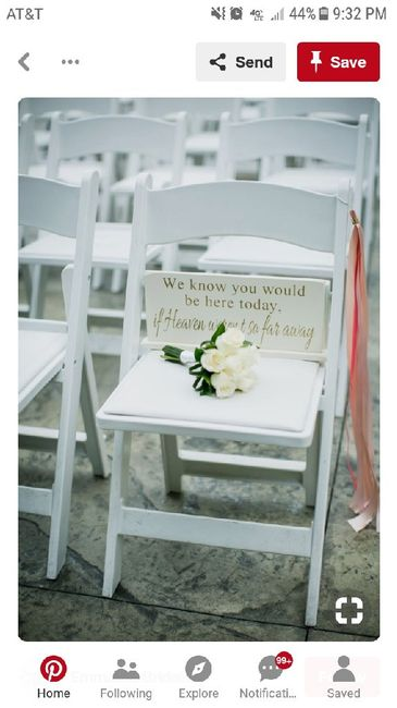 Reserving a ceremony seat for deceased 1