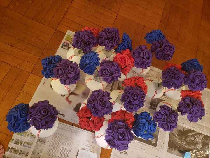 Centerpieces done! - 2