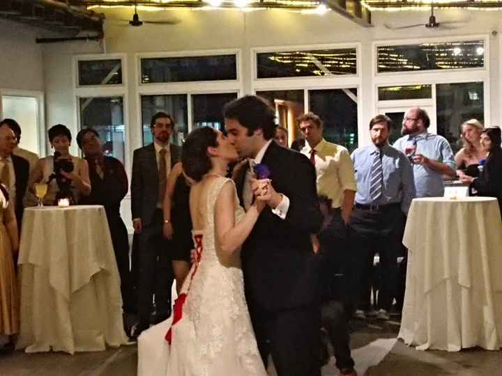 Our first dance as husband and wife kept getting interrupted by kissing each other. Sorry not sorry