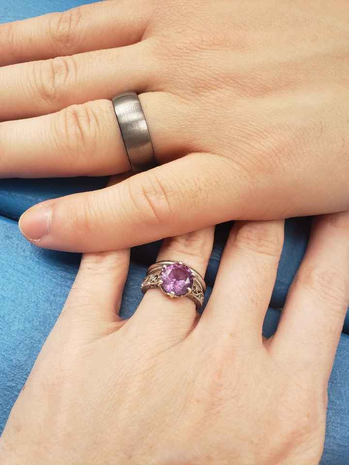 For those of you with solitaire cut stones, what style of wedding band do you have?! - 1