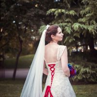 Back of my dress. I did it in red lacing so it would look like baseball seams!