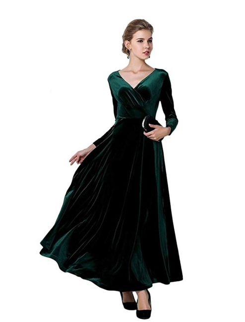 Bridesmaid dresses - Green Velvet 1