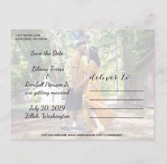Save the date postcards or cards - 2