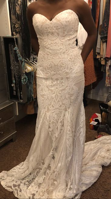 Tried on my reception dress after weight loss 1
