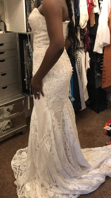 Tried on my reception dress after weight loss 2
