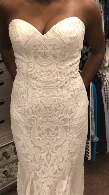 Tried on my reception dress after weight loss 3
