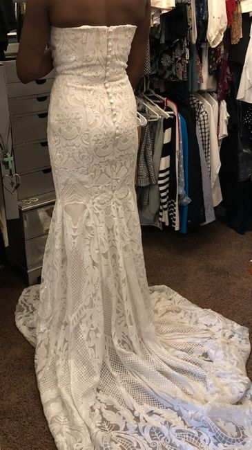 Tried on my reception dress after weight loss 4