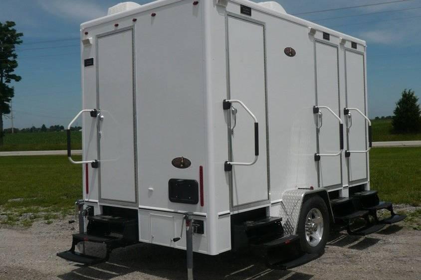 Four station trailer restroom