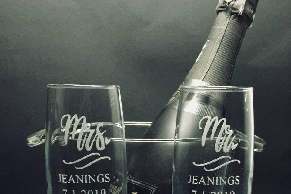 Forever Yours Glass Etchings