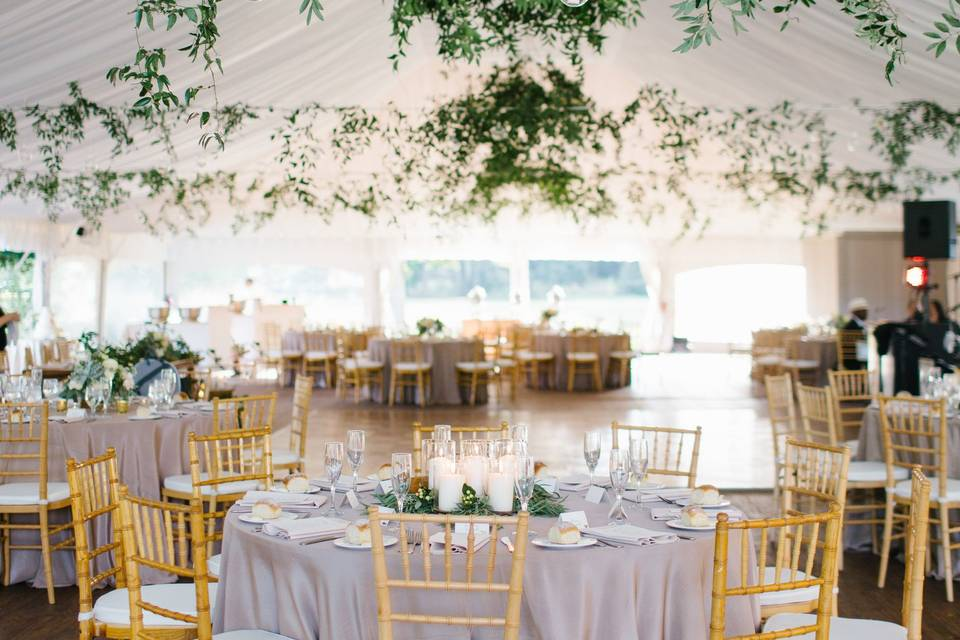 Blossoming table setting