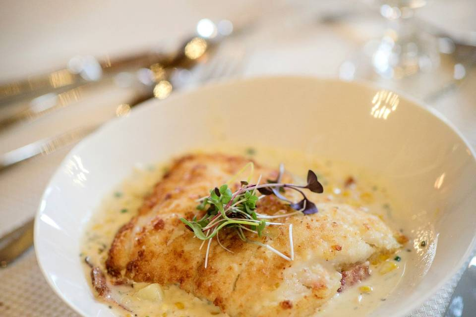 Potato Crusted Haddock