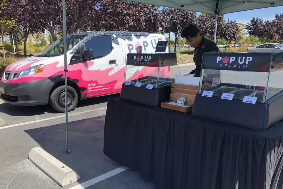 Outdoor setup with PUG Mobile