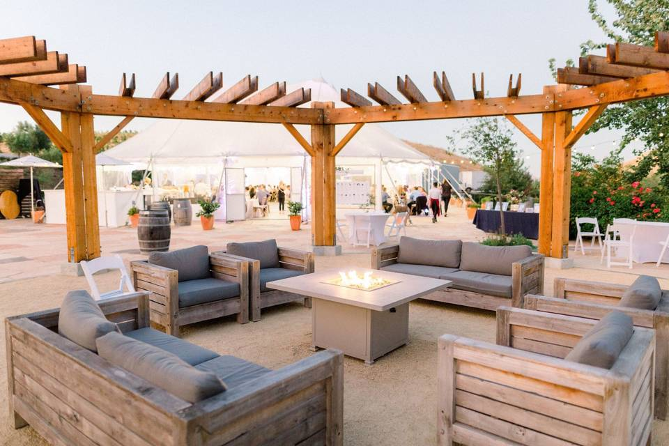 Comfortable seating for outdoor relaxation