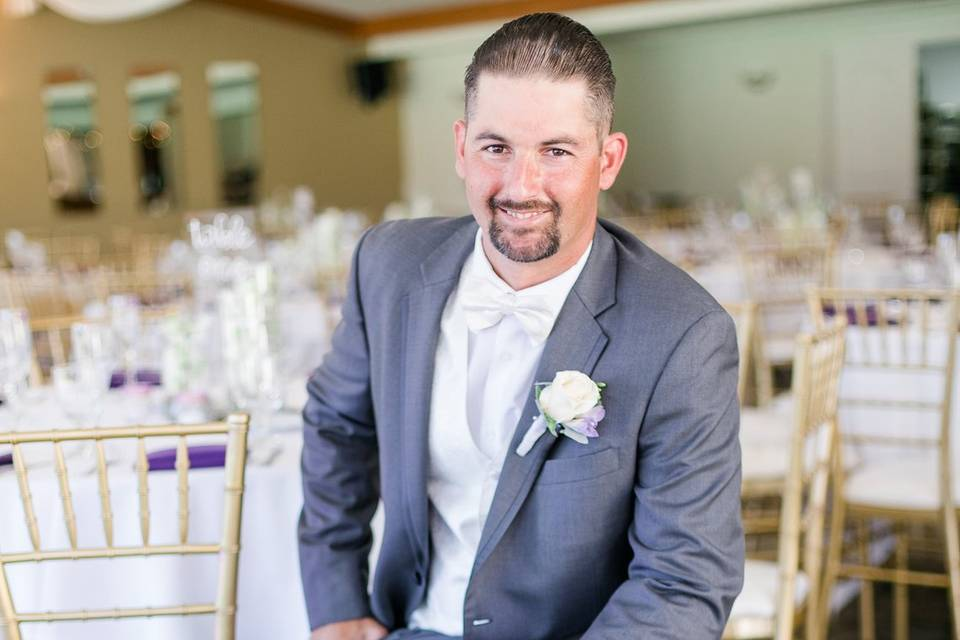 Groom in the Reception