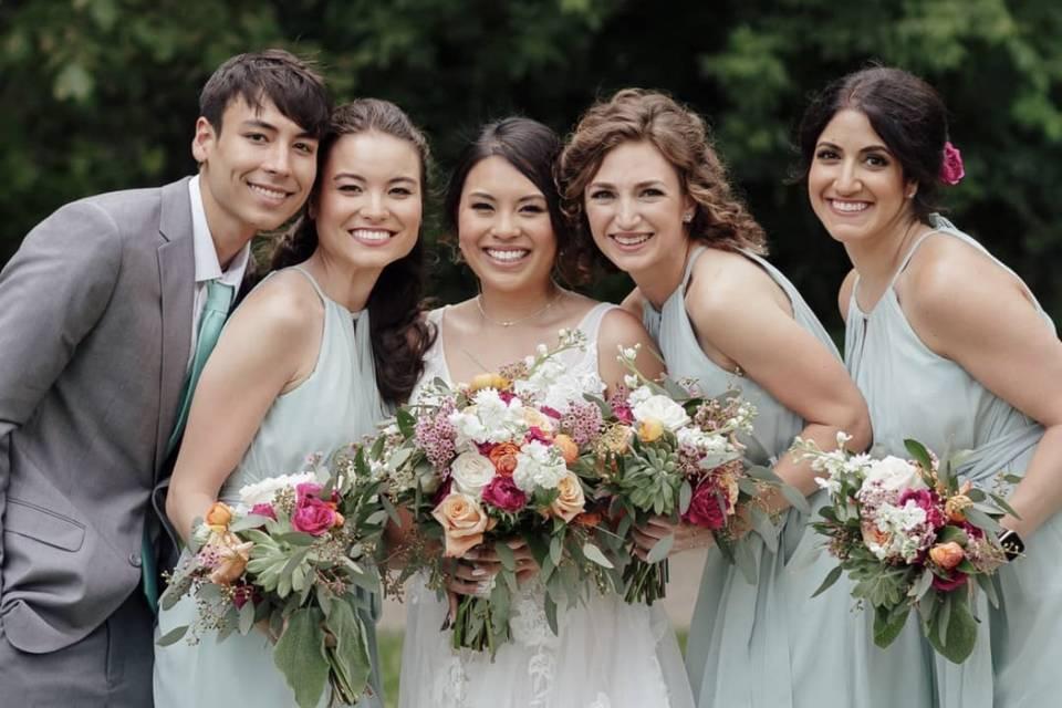 Spring backyard wedding